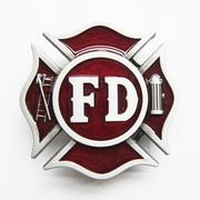 New Vintage Enamel Fire Fighter Dept Classic Hero Belt Buckle Gurtelschnalle Boucle de ceinture BUCKLE-OC030