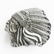 New Vintage American Native Indian Chief Feather Belt Buckle Gurtelschnalle Boucle de ceinture