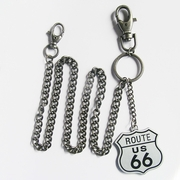 Road US Route 66 Jeans Waist Wallet Key Chain