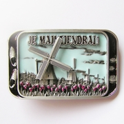 New Original Enamel Spinner Windmill Tulip Pattern Cheese Belt Buckle Gurtelschnalle Boucle de ceinture