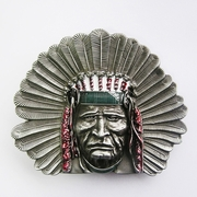 New Vintage Western Native Chief Enamel Belt Buckle Gurtelschnalle Boucle de ceinture BUCKLE-WT003