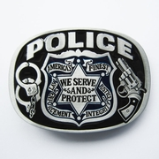 New Vintage Enamel Hero Sheriff Law and Order Belt Buckle Gurtelschnalle Boucle de ceinture