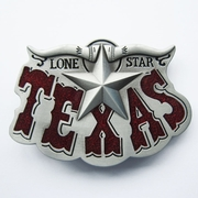New Vintage Red Enamel Western Texas Star Cowboy Belt Buckle Gurtelschnalle Boucle de ceinture
