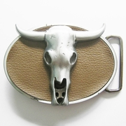 Western Rodeo Bull Belt Buckle