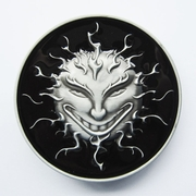 New Vintage Black Enamel Devil Evil Face Belt Buckle Gurtelschnalle Boucle de ceinture