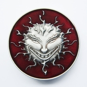 New Vintage Red Enamel Devil Evil Face Belt Buckle Gurtelschnalle Boucle de ceinture