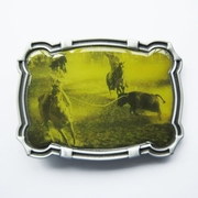 Bull Rodeo Cowboy Western Belt Buckle