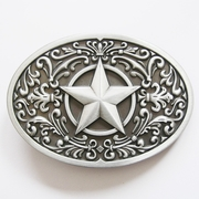 New Vintage Southwest Flower Western Star Oval Belt Buckle Gurtelschnalle Boucle de ceinture