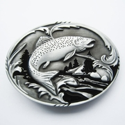 New Fish Fishing Wildlife Fisherman Western Oval Belt Buckle Gurtelschnalle Boucle de ceinture