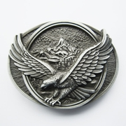 Vintage American Pride Western Eagle In Flight Oval Belt Buckle Gurtelschnalle Boucle de ceinture