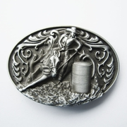 New Vintage Oval Cowgirl Rodeo Raceing Western Belt Buckle Gurtelschnalle Boucle de ceinture BUCKLE-WT104AS