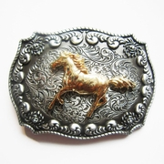 JEAN'S FRIEND New Original Western Cowboy Rodeo Horse Double Color Belt Buckle Gurtelschnalle Boucle de ceinture