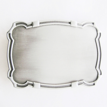 New Original Western Rectangle Edge Blank Belt Buckle Custom Belt Buckle