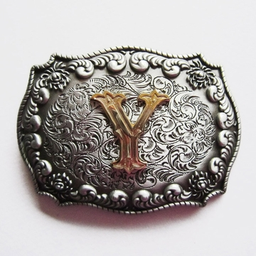 Jeansfriend Original New Western Cowboy Initial Letter Y Belt Buckle