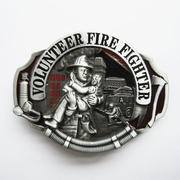 New Enamel Hero Volunteer Fire Fighter Belt Buckle Gurtelschnalle Boucle de ceinture BUCKLE-OC009