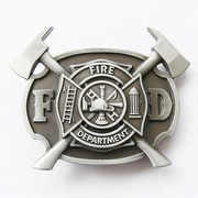 New Vintage Firefighter FD Cross Belt Buckle Gurtelschnalle Boucle de ceinture