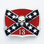 New Vintage Skull Cross Star Flag Belt Buckle Gurtelschnalle Boucle de ceinture