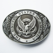 New Vintage Great US Eagle Flag Oval Belt Buckle BUCKLE-WT087AS