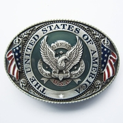 New Enamel Great US Eagle Flag Oval Vintage Belt Buckle Gurtelschnalle Boucle de ceinture