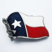 New Enamel Star US Texas State Flag Vintage Belt Buckle