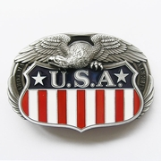 New Oval Fly Eagle On US Enamel Vintage Flag Belt Buckle Gurtelschnalle Boucle de ceinture