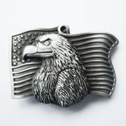 New Eagle On Flag Vintage Belt Buckle Gurtelschnalle Boucle de ceinture