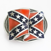 New Vintage Cross Star Banner Flag Belt Buckle Gurtelschnalle Boucle de ceinture BUCKLE-FG005
