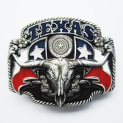 New Black Texas Longhorn State Flags Belt Buckle