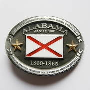 New Vintage Oval Alabama Flag Belt Buckle Gurtelschnalle Boucle de ceinture BUCKLE-FG008