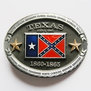 New Vintage Texas Flag Oval Belt Buckle Gurtelschnalle Boucle de ceinture BUCKLE-FG018