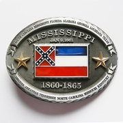 New Vintage Mississippi State Flag Oval Belt Buckle Gurtelschnalle Boucle de ceinture BUCKLE-FG013