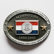 New Vintage Missouri Oval State Flag Belt Buckle Gurtelschnalle Boucle de ceinture BUCKLE-FG014