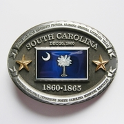 New Vintage South Carolina State Flag Belt Buckle Gurtelschnalle Gurtelschnalle Boucle de ceinture BUCKLE-FG015
