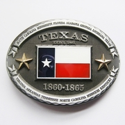 New Vintage Texas Star Flag Oval Belt Buckle Gurtelschnalle Boucle de ceinture BUCKLE-FG020
