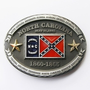 New Vintage North Carolina Oval Flag Belt Buckle Gurtelschnalle Boucle de ceinture BUCKLE-FG023