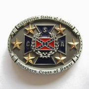 New Vintage Oval Star Flag Belt Buckle Gurtelschnalle Boucle de ceinture BUCKLE-FG025
