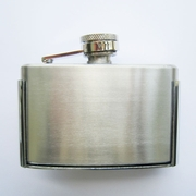 JEAN'S FRIEND Classic 3 oz Stainless Steel Flask Belt Buckle