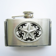 Western Star 3oz Stainless Steel Flask Belt Buckle