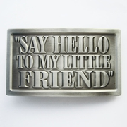 Fashion Belt Buckle (Say Hello To My Little Friend)