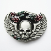 New Vintage Punk Flowers Wings Emo Skull Belt Buckle