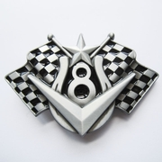 Belt Buckle vehicle V8 Checkered Flags