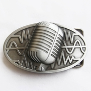New Vintage Original Microphone Music Oval Belt Buckle Gurtelschnalle Boucle de ceinture BUCKLE-MU072AS