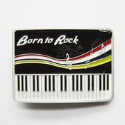 New Vintage Born To Rock Piano Music Belt Buckle Gurtelschnalle Boucle de ceinture BUCKLE-MU064