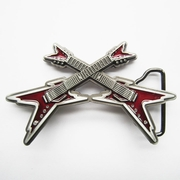 New Vintage Red Enamel Cross Electric Guitar Belt Buckle Gurtelschnalle Boucle de ceinture BUCKLE-MU061RD