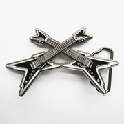 New Vintage Black Enamel Cross Electric Guitar Belt Buckle Gurtelschnalle Boucle de ceinture BUCKLE-MU061BK
