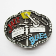 New Vintage Enamel Jazz Blues Country Music Belt Buckle Gurtelschnalle Boucle de ceinture BUCKLE-MU070