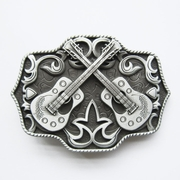 New Vintage Western Country Cross Guitar Music Belt Buckle Gurtelschnalle Boucle de ceinture