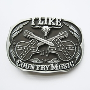 New Vintage Western Country Music Belt Buckle Gurtelschnalle Boucle de ceinture BUCKLE-MU069AS