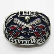 New Vintage Enamel Western Country Music Belt Buckle Gurtelschnalle Boucle de ceinture BUCKLE-MU069