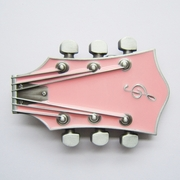New Vintage Original Pink Enamel Guitar Music Belt Buckle Gurtelschnalle Boucle de ceinture